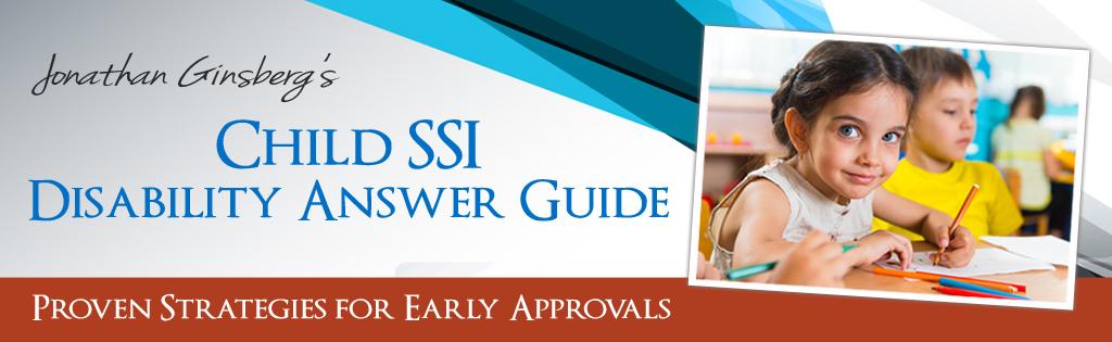 Child SSI Disability header image